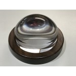 Crystal View Magnifier 3.5 Inch Walnut Base